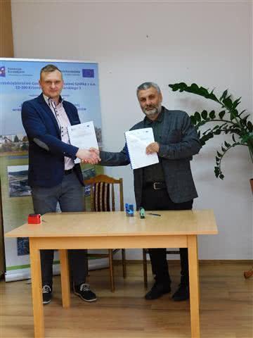 Podpisanie umowy dla Zadania III-2 guetzli