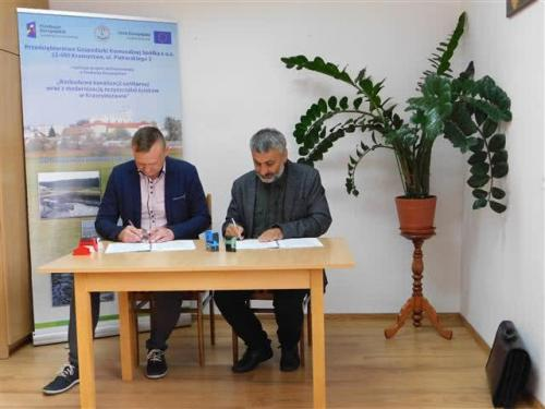 Podpisanie umowy dla Zadania III guetzli